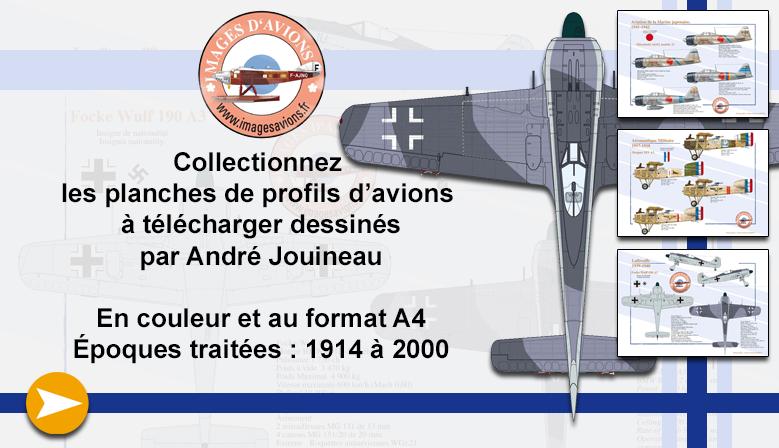 Les profils d'avions à télécharger dessinés par André Jouineau