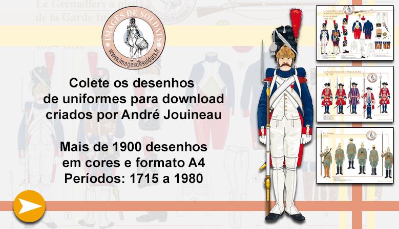 Desenhos de uniforme militar de André Jouineau